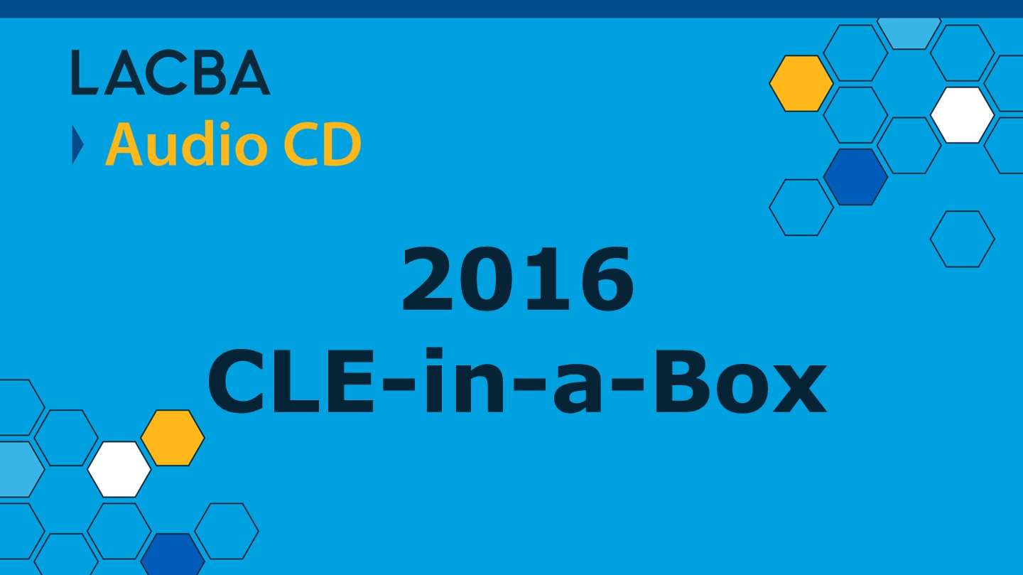 2016 CLE-in-a-Box