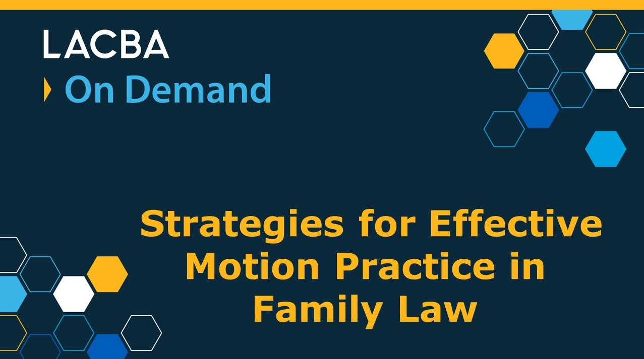 Family Law On Demand Program 2/4/17