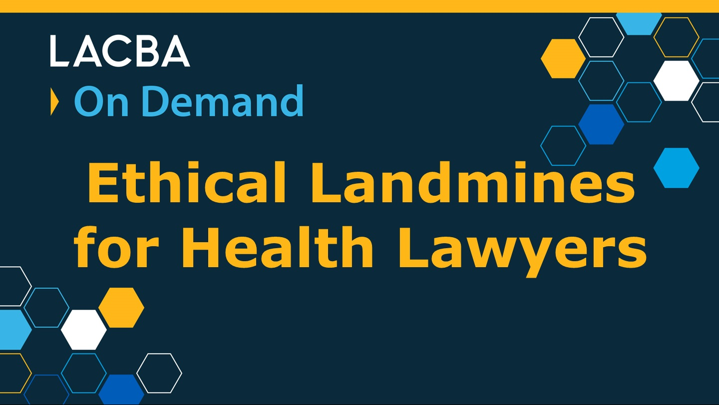 Healthcare Law On Demand Program 1/14/16