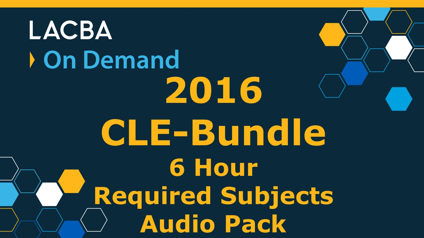 2016 CLE-Bundle Required Subjects On Demand Video Pack