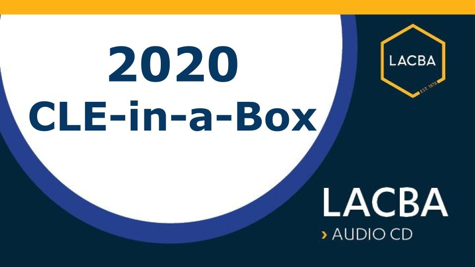 2020 CLE-in-a-Box (Audio CDs)