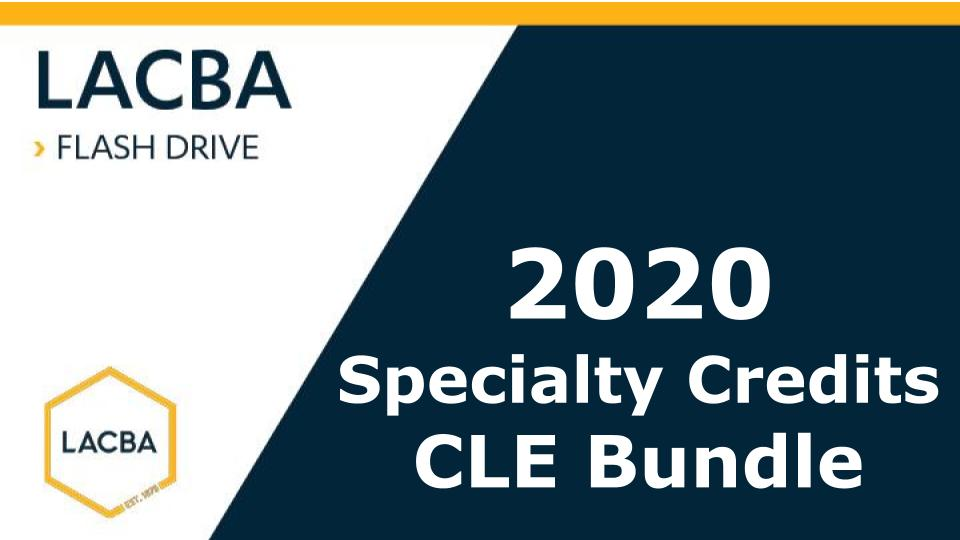 2020 Specialty Credits CLE Bundle Flashdrive (Mp3 on USB)