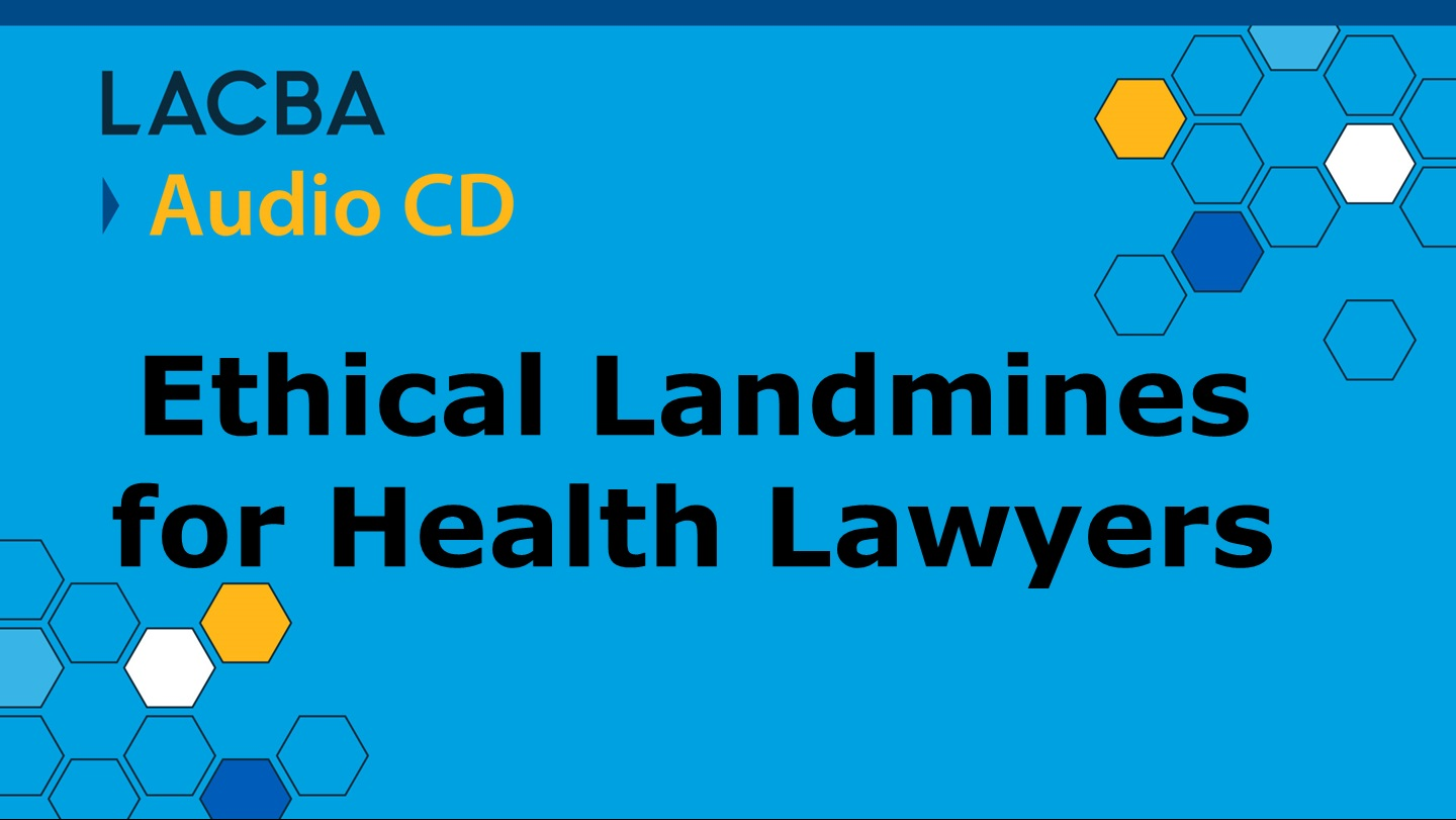 Healthcare Law Audio CD Program 1/14/16