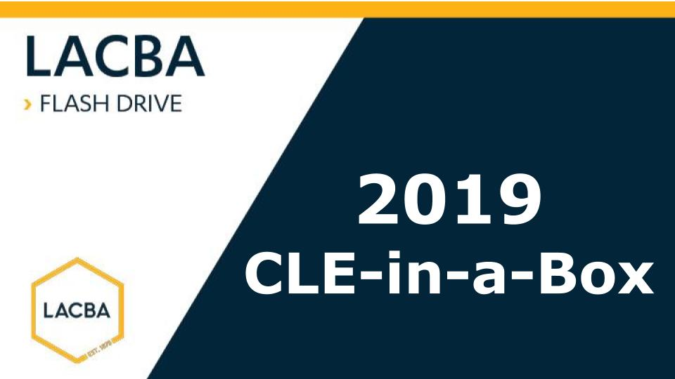 2019 CLE-in-a-Box Flashdrive (Audio Mp3's on USB)
