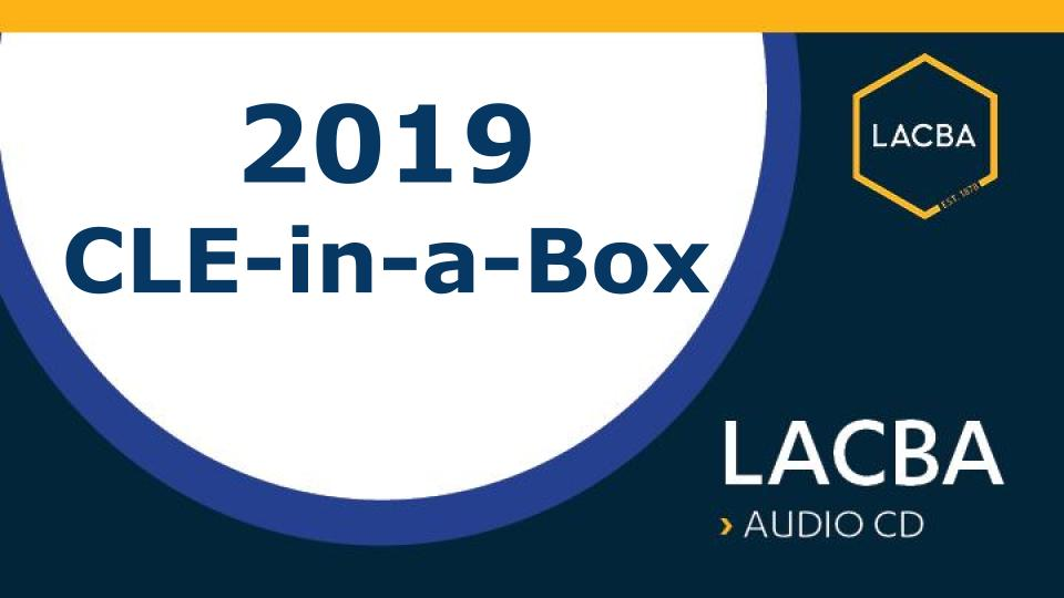 2019 CLE-in-a-Box (Audio CDs)